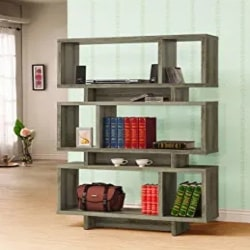 Cheap Pallet Furniture Ideas - 3 Tier Traditional Bookcase in Salvaged Cabin Brown - Pemberly Row