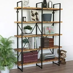 Cheap Pallet Furniture Ideas - Ramsden Large Bookcase Brown or Dark Bronze