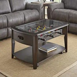 Cheap Traditional Furniture - Diletta Cocktail Table with Foosball Walnut