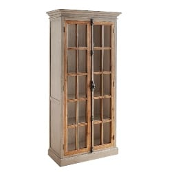 Cheap Traditional Furniture Ideas - Linen Gray 72in Tall Cabinet (1)