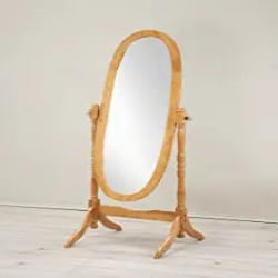 Cheap Traditional Furniture Ideas - Roundhill Furniture Traditional Queen Anna Style Wood Floor Cheval Mirror, Oak Finish