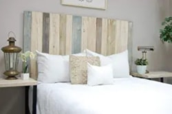 Cheap pallet Furniture Ideas - Farmhouse Mix Headboard Full Size Easy Installation