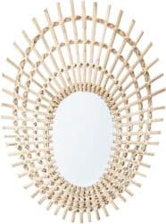 Modern Bohemian Furniture - Bloomingville Rattan Mirror