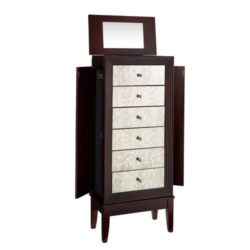 Modern Family Room Furniture Ideas -  Ava Cognac Jewelry Armoire