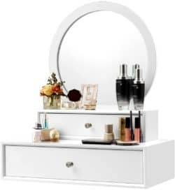 Modern Family Room Furniture Ideas -  CHARMAID Vanity Mirror with Removable Drawers