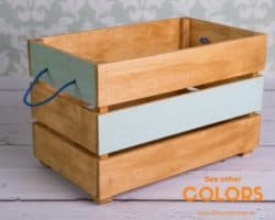 Modern Family Room Furniture Ideas -  LittleWoodShopEu Wood Toy Box on Wheels