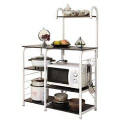 Modern Kitchen Furniture - Sogesfurniture Baker's Rack Utility Storage Shelf