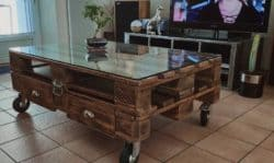 Modern Pallet Furniture Ideas - Marchatelier industrial pallet table