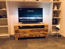 Modern Pallet Furniture Ideas - Paletteriam Tv-Rack Pallet