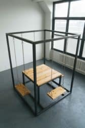 Modern Pallet Furniture Ideas - SwingTable with Cedar Wood