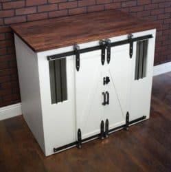 Modern Unique Furniture - Dog Crate - Sliding barn doors
