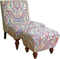 Bohemian Furniture - HomePop Chair and Ottoman Set