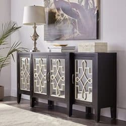 Bohemian Furniture - ACME antique black console table