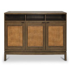 Bohemian Furniture - Francisco Rattan Panel 3 Door Sideboard