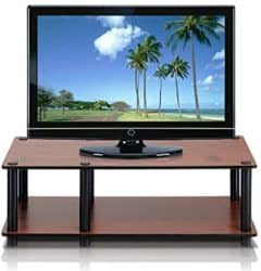 cheap modern furniture - FURINNO Television Stand with Black Tube