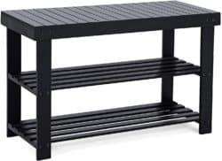 cheap modern furniture - SONGMICS Black Shoe Rack Bench