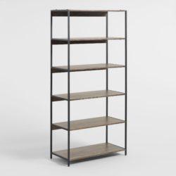 cheap modern furniture - Wood And Metal Modular Isaiah Bookshelf