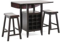 unique furniture - baxton studio 3 piece pub set
