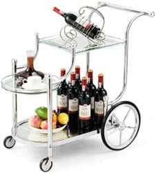 unique furniture - tangkula rolling bar cart