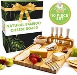 Best Housewarming Gifts - Bamboo Cheese Board Set