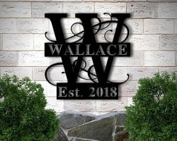 Best Housewarming Gifts - Personalized Family Name Metal Sign (1)
