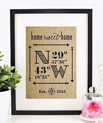 Best Housewarming Gifts - Personalized Home Sweet Home Sign (1)