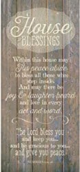 Best Personalized Housewarming Gifts - House Blessing Wood Plaque Inspiring Quote