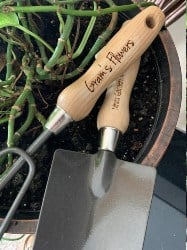 Best Personalized Housewarming Gifts - Personalized Garden Tools (1)