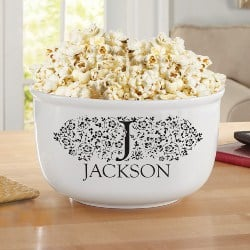 Best Personalized Housewarming Gifts - Personalized Popcorn Bowl