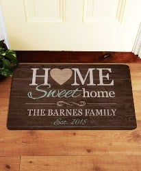 Best Personalized Housewarming Gifts - Personalized You Are Home Doormat