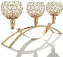 Best Unique Housewarming gifts - Gold Crystal Candle Holders