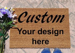 Design your custom door mat coir doormat (1)