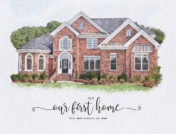 Personalized Housewarming Gifts - Custom Watercolor House Portrait (1)