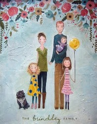 Personalized Housewarming Gifts - Family Portrait Illustration (1)