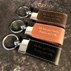 Personalized Housewarming Gifts - Personalised Full-Grain Leather Keychain (1)