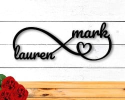 Personalized Housewarming Gifts - Personalized Metal Infinity Sign (1)