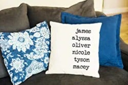 Personalized Housewarming Gifts - Personalized Throw Pillowcase