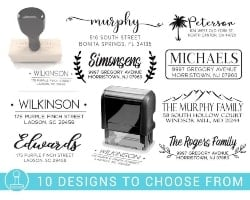 Personalized Housewarming Gifts - Return Address Stamp (1)
