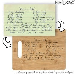 Personalized Practical Housewarming Gifts - Engraved Recipe Cutting Board (1)