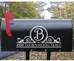Personalized Practical Housewarming Gifts - Personalized Mailbox Decal