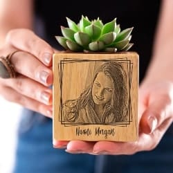 Personalized Unique housewarming Gifts - Personalized Pots with Engraved Photo (1)