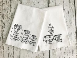 Practical Housewarming Gifts - Kitchen Towel Set with Measurement Conversions (1)