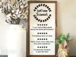 Unique but Funny Housewarming gifts - Funny Bathroom Sign