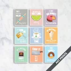 Unique but Funny Housewarming gifts - Funny Kitchen Song Series Kitchen Art