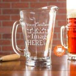 Unique but Practical Housewarming gifts - Etched Glass Pitcher