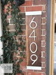 Unique but Practical Housewarming gifts - Modern House Numbers Vertical