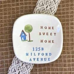 Unique but Practical Housewarming gifts - Personalized Ceramic Gift Dish