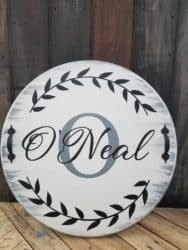 Unique but Practical Housewarming gifts - Personalized Round Serving Tray with Handles