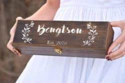 Unique but Practical Housewarming gifts - Personalized Wine Box