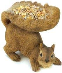 Unique but Practical Housewarming gifts - Squirrel Outdoor Birdfeeder